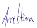 Signatur Arve Hinna